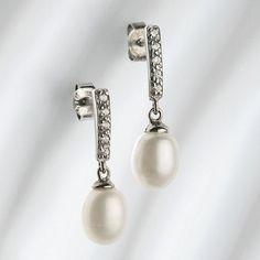 Belleek Living Pearl Droplet Earrings- at Debenhams.com