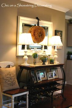 Burlap pillow, tertiary, antique looking with a modern touch.  Love