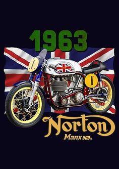 T-shirt premium 'NORTON Manx ' par midoclique Norton Manx, Vetements T Shirt, Finding Yourself, Bike, Shirts, Style, Drawstring Bags, T Shirt With Collar, Hoodie Sweatshirts