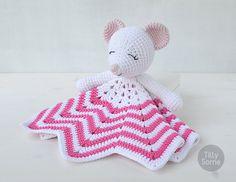 Sleepy Mouse Lovey Pattern Security Blanket Crochet Lovey