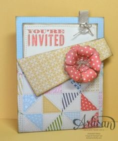 ♥ this pocket card invitation by Jennifer Timko. Very gorgeous!