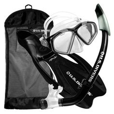 U.S. Divers Adult Cozumel Mask/Seabreeze II Snorkel/Proflex Fins/Gearbag (Black, Large) by U.S. Divers. $32.43. 2-Window standard material mask with splash top snorkel and full foot pocket fin, packaged in travel ready mesh bag.