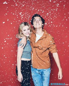 Lili Reinhart and Cole Riverdale