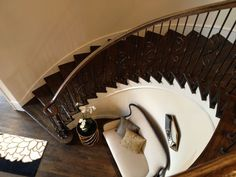 Curved Stairs Design   Pinned by Donna Stone Shaw #stairway #homestairy