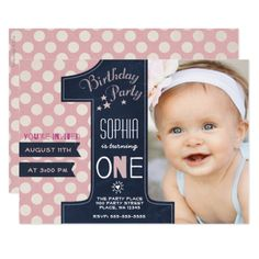 First Birthday Party Invitation Girl Chalkboard Templates 1st Invitations