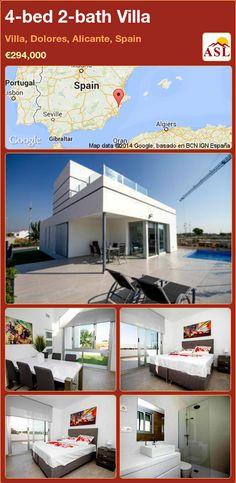4-bed 2-bath Villa in Villa, Dolores, Alicante, Spain ►€294,000 #PropertyForSaleInSpain