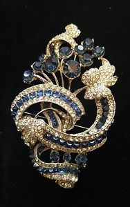 MASSIVE BRILLIANT Eisenberg Original Gigantic Brooch Sapphire 5 Star    eBay