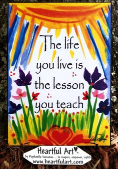 LIFE You LIVE 5x7 Poster Motivational Words