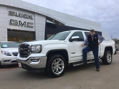 DONALD 's new 2017 GMC  SIERRA ! Congratulations and best wishes from Hall Buick GMC and JOSE CERVANTES.