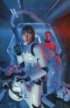 Luke Skywalker and Han Solo by Hugh Fleming