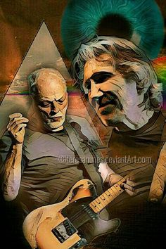 David Gilmour and Roger Waters Pink Floyd Artwork, Psychedelic Music, Roger Waters, David Gilmour, Metal Bands, Rock Bands, Churros, Moody Blues, Popular Music