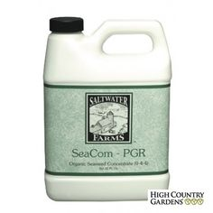 Saltwater Farms Sea Com-PGR is a concentrated liquid extract of fresh sea kelp is used to overcome transplant shock, promote root growth, increase resistance to environmental stress, and improve blooming. Liquid Fertilizer, Organic Fertilizer, Plant Growth, Plant Care, High Country Gardens, Giant Pumpkin, Garden Soil, Gardening, Tree Care