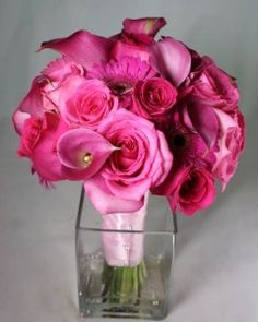 Cairnwood Bridesmaid Hot Pink Bouquet by Belvedere Flowers