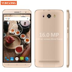 YUNSONG S10 Plus 6.0 inch QHD Mobile Phone 16.0MP MTK6580 Quad Core Dual SIM Unlocked Cell Phone telephone 3G Touch Smartphone