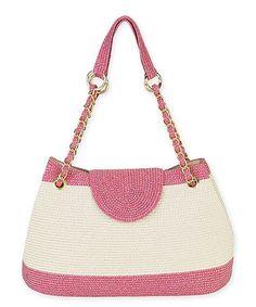 Loving this Fuchsia & Cream Color Block Shoulder Bag on #zulily! #zulilyfinds
