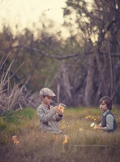 Great idea for photographing kids; find something they are interested in, and also visually apealing