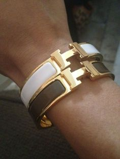 Not always a fan of gold jewelry, but I'd make an exception for these Hermes bracelets
