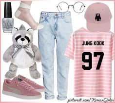 Gently-pink look (spring-summer), BTS.
