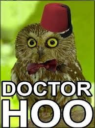 Adventures through time and space brought to you by Doctor Who, Torchwood, Mimisaurus, Capes and. Visual Puns, Funny Owls, Christopher Eccleston, Character Development, Animal Quotes, Tardis, Funny People, Doctor Who, Doctor Stuff