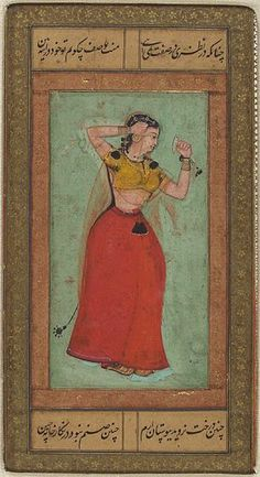 Woman Applying Kohl: from an album assembled for emperor Jahangir | Harvard Art Museums | 16th century Mughal.
