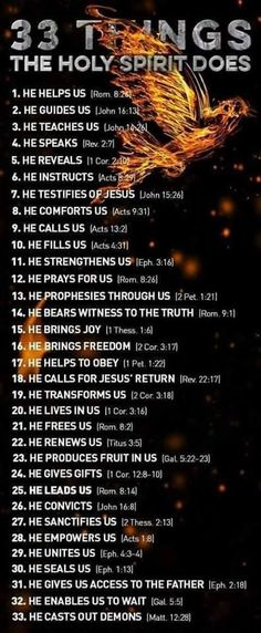 33 Things the Holy Spirit Does