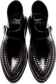 Saint Laurent. Black Monk Strap Creepers.                                                                                                                                                                                 More