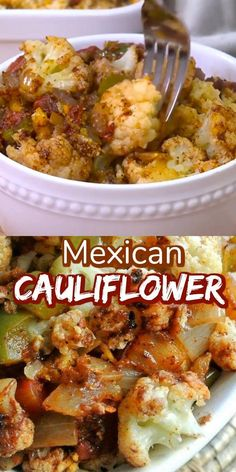 Mexican Spicy Cauliflower Casserole is a fantastic side dish. There are many spices and accent vegetables that blend just right. Easy to make and healthy too