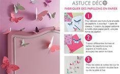Astuce déco : papillons en papier