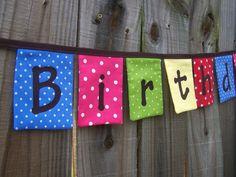 birthday fabric banner