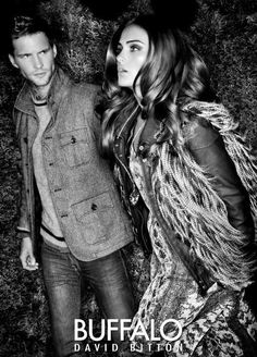 Buffalo Jeans F/W 12   Xenia Deli - Model  Leda & St Jacques (Photographer)  Tomas Skoloudik - Model