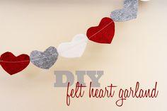 Lovely Little Snippets: DIY Felt Heart Garland