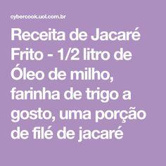19cf9a516f6 12 melhores imagens de Jacare receitas de Jacare