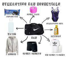 """Gymnastics bag essentials :))"" by juliakul on Polyvore"