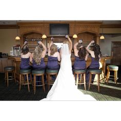 cute bridesmaids pic idea, or for whole bridal party. (do night before at rehersal dinner and again the next day-comperative pic)