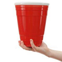GIANT 72 OZ RED PARTY CUP  You didn't just come here to have a little cocktail... you came to party!!!! So fill up our mammoth sized Giant Red Cup! With this bad boy you'll need two hands and a colossal ambition to quench your thirst! With any luck, you won't have to go back to the keg for at least an hour!