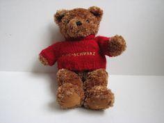 "FAO Schwarz Brown Bear with Red Sweater 13"" Stuffed Plush Animal #FAOSchwarz"