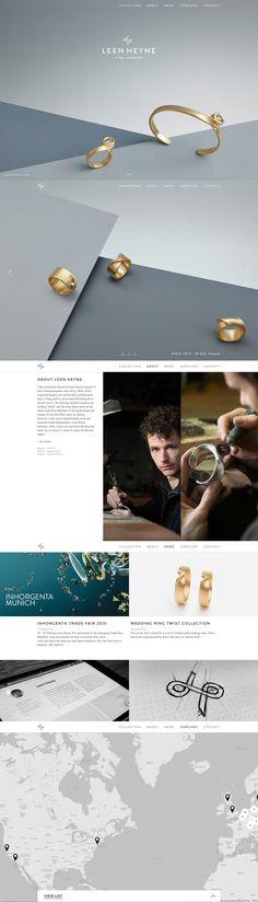Luxe Jewelry Ads, Photo Jewelry, Jewelry Branding, Jewelry Design, Page Design, Layout Design, Site Inspiration, Site Vitrine, Jewelry Website