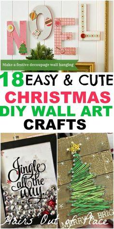 Hanging Christmas Decorations Wall.Diy Christmas Wall Decor