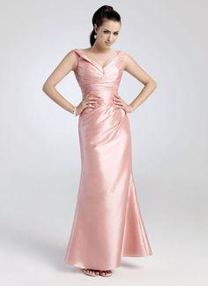 Glamorous sleeveless A-line evening dress