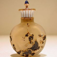 A Chinese snuff bottle mounted by Carl Faberge.