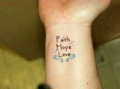 faith hope love tattoo - Yahoo Search Results