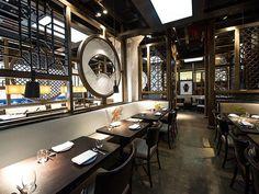Hakkasan New York, Modern Chinese Restaurant-Bar, Midtown West - New York Restaurant Photos, Cafe Restaurant, Cafe Bar, Hotpot Restaurant, Restaurant Website, Chinese Design, Asian Design, Chinese Style, Chinese Food