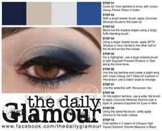 Blueberries and Cream by The Daily Glamour using BFTE and Concrete Minerals Urban Decay Primer Potion, Blue Eyeshadow Looks, Concrete Minerals, Blueberries, Brows, Beauty Makeup, How To Apply, Make Up, Maquillaje