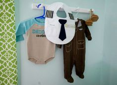 adorable way to display clothes