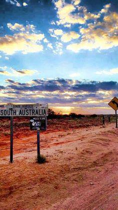Sunset at Cameron Corner, South Australia