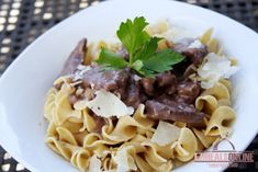 SAVORY BEEF TIPS over EGG NOODLES | EZ Meals Online | Healthy Eating Ideas, Quick and Easy Recipes