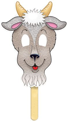 Creative Play | Role Play | Three Billy Goats Gruff Fairy Tale Masks, 4 per set | Moser Corp. Teacher Supplies