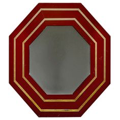 French Octagonal Lacquer Mirror | From a unique collection of antique and modern wall mirrors at http://www.1stdibs.com/furniture/mirrors/wall-mirrors/