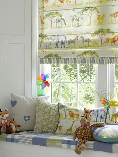 We love this fun kids design from Voyage, for a price on any of their fabrics call us on 0845 4989043