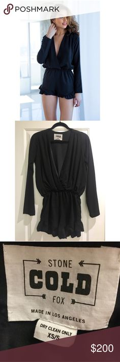 Stone Cold Fox Love Romper Size 1 The cutest black romper perfect for date night! Only worn once Stone Cold Fox Other